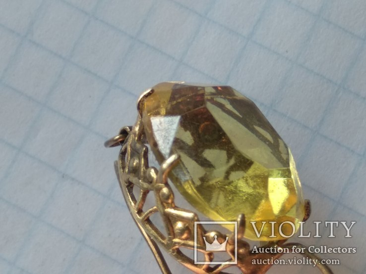 Набор серебро, кольцо и серьги, 875, фото №6
