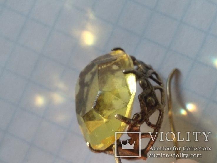 Набор серебро, кольцо и серьги, 875, фото №7