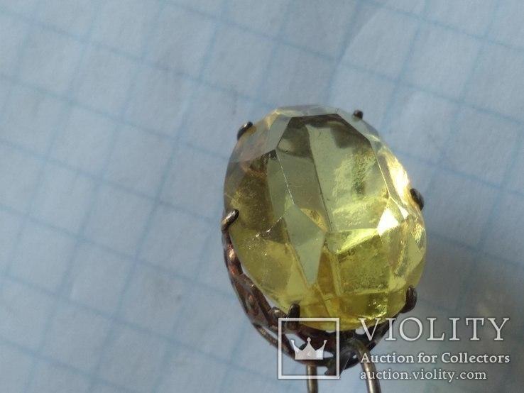 Набор серебро, кольцо и серьги, 875, фото №12