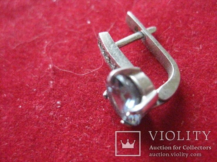 Серьга, серебро 1.7 грамм, 925 проба, фото №3