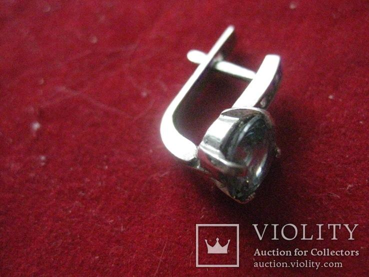 Серьга, серебро 1.7 грамм, 925 проба, фото №4