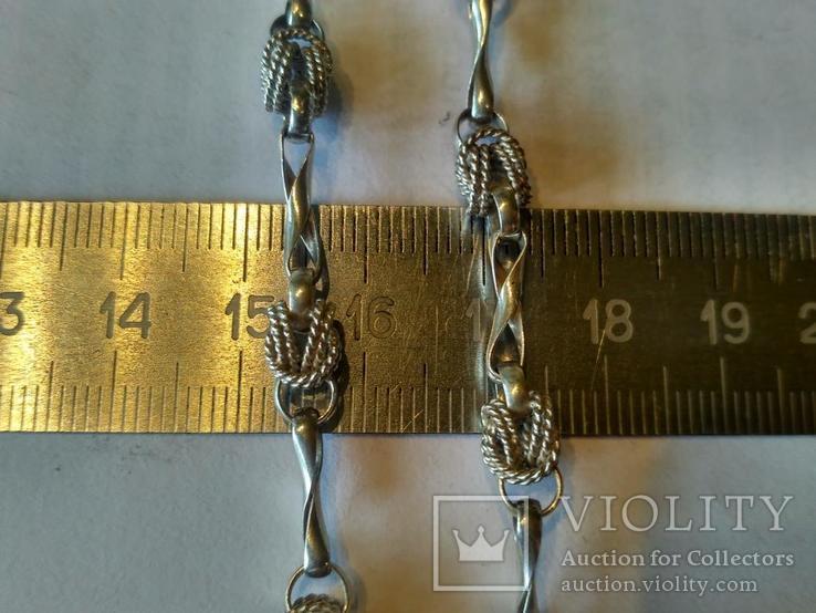 Цепочка 1 серебро, фото №3