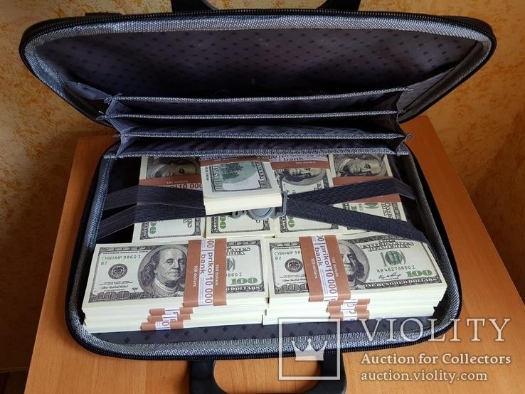 Сумка с деньгами 100$ Сувенирные деньги, Сувенірні гроші 100 $, фото №3