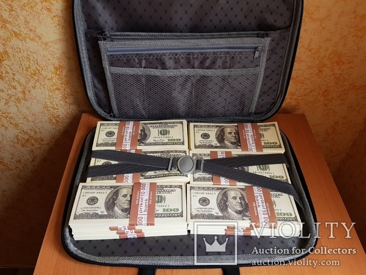 Сумка с деньгами 100$ Сувенирные деньги, Сувенірні гроші 100 $, фото №5