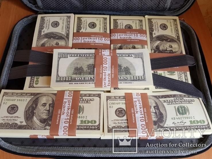 Сумка с деньгами 100$ Сувенирные деньги, Сувенірні гроші 100 $, фото №6