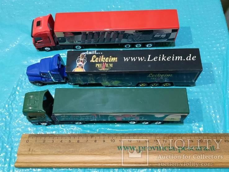 Грузовики из Германии с рекламой 3 шт., фото №5