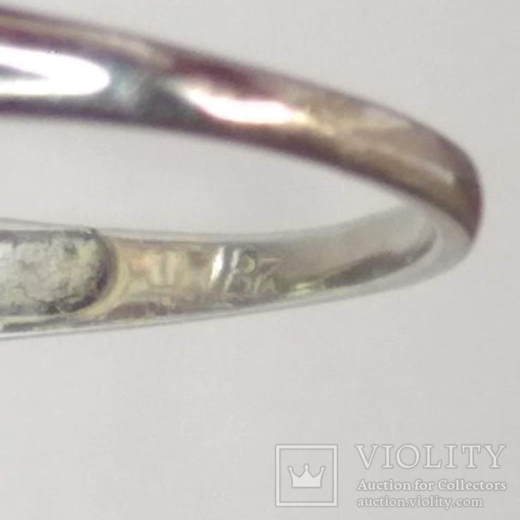 Золотое кольцо периода art deco с бриллиантами, фото №6