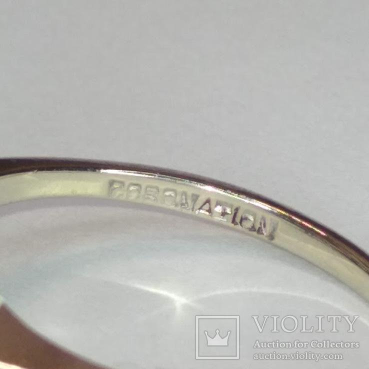 Винтажное золотое кольцо с натуральными рубинами и бриллиантами, фото №8