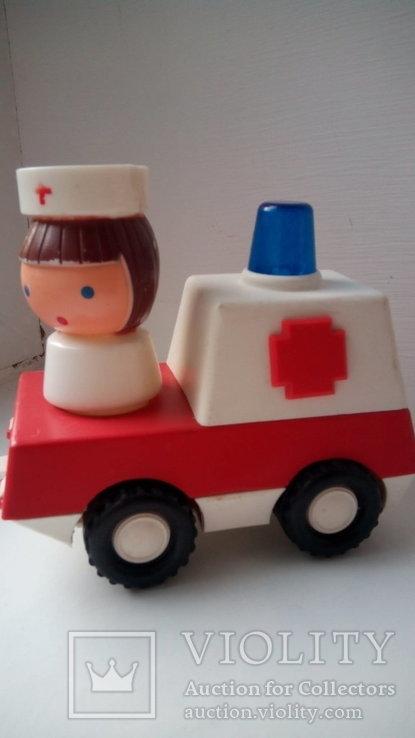Город пробок скорая помощь игрушка редкость СССР, фото №2