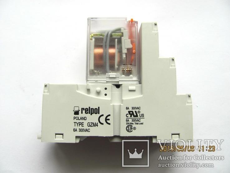 Контактная колодка GZM4 Relpol c реле R4, фото №2