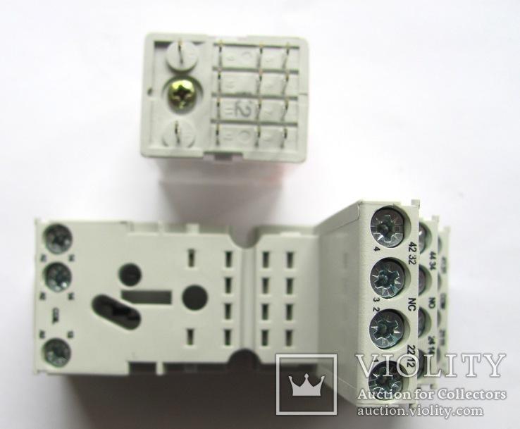Контактная колодка GZM4 Relpol c реле R4, фото №4