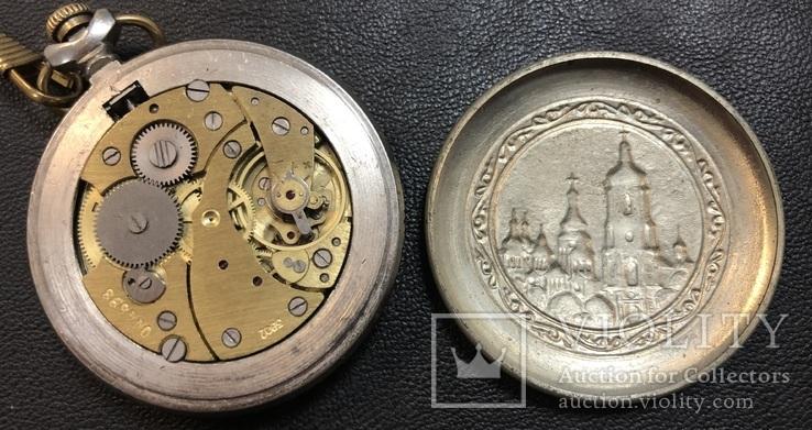 Рабочие карманные часы Молния. Киев, фото №10