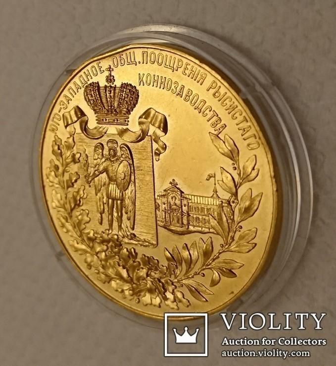 """Золотая медаль 1905 года. На медали есть надписи  """"І. Маршак"""", """"Ф.А.Терещенко"""", """"Киев""""..., фото №7"""