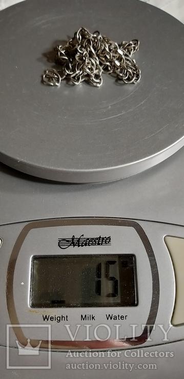 Цепочка серебро, под ремонт 15 грм, фото №4