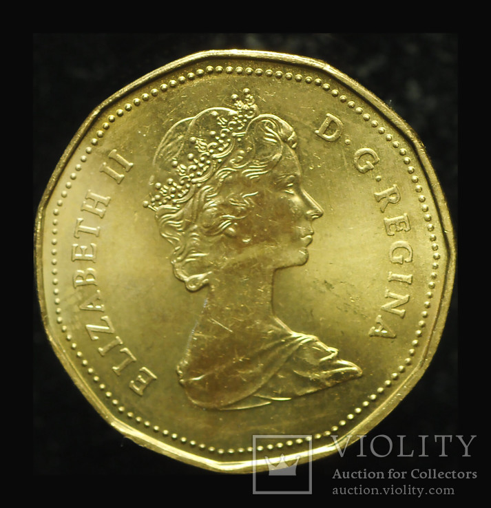 Канада 1 доллар 1987 Unc, фото №3