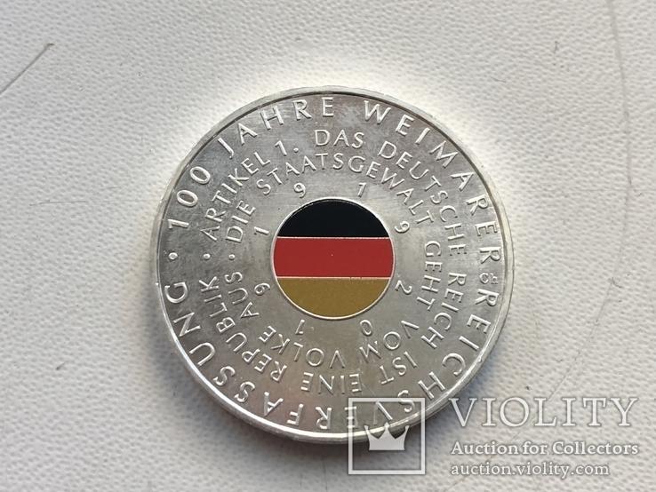"""Пам'ятна монета за 20 євро """"100 років Конституції Веймарської імперії"""" 2019, фото №2"""