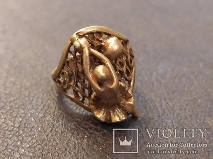 Балерина кольцо латунь, фото №6