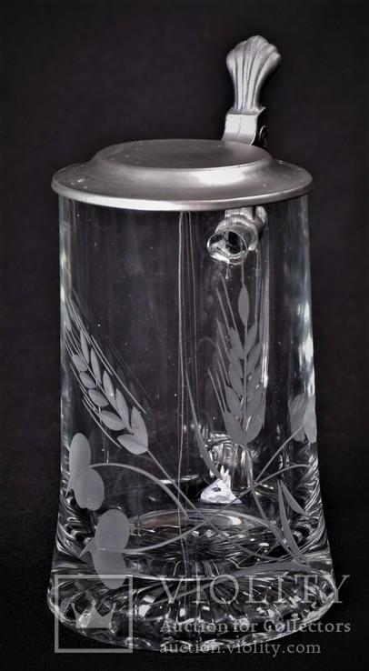Кружка пивная коллекционная Бокал W.Germany, фото №3
