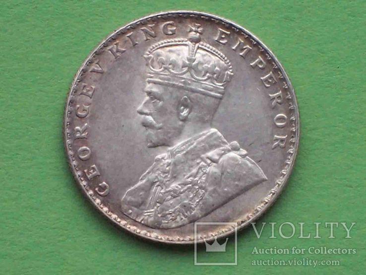 Британская Индия 1912 Рупия, Георг V.