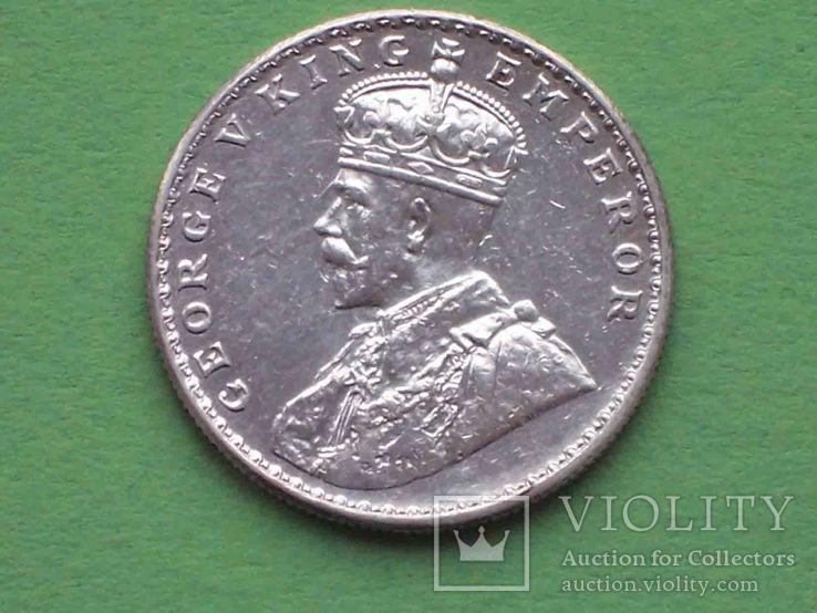 Британская Индия 1919 Рупия, Георг V.