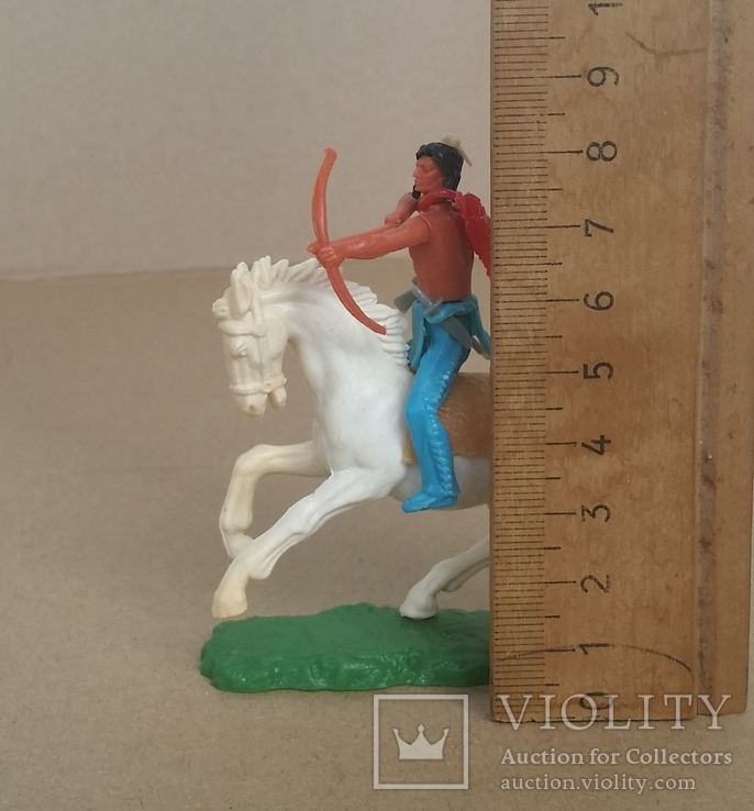 Индеец на лошади с луком Elastolin своппеты Германия, фото №5