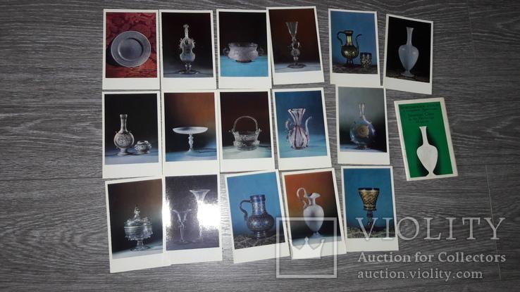 Набор открыток Венецианское стекло СССР 16шт 1971г., фото №3