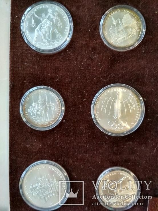 Олимпиада 1980 серебро СССР набор монет в футляре сертификат, фото №8