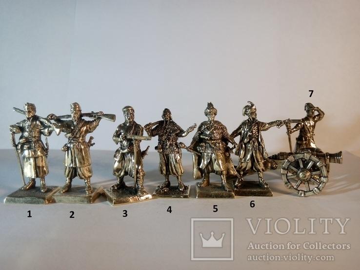 Козаки + пушка( 7 основных фигурок+пушка), фото №2