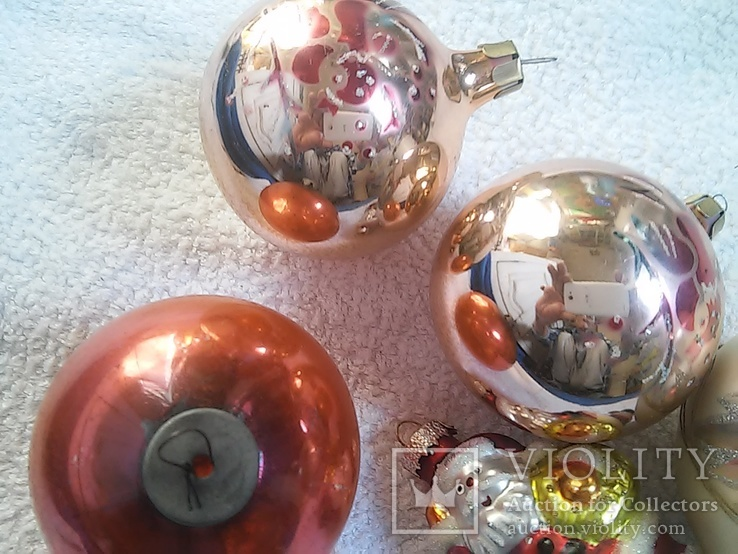Елочные игрушки: Шары и Дед мороз. 5 шт. 1 - им лотом, фото №6