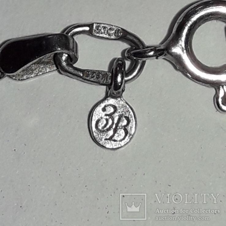 Серьги и подвес на цепочке с аметистом, серебро 925, фото №9