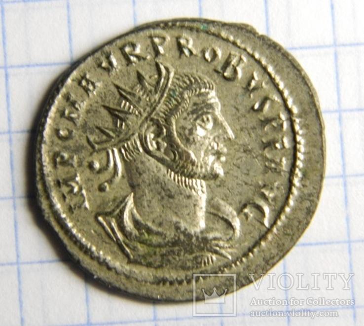 Император Проб, реверс - CLEMENTIA, остатки серебрения