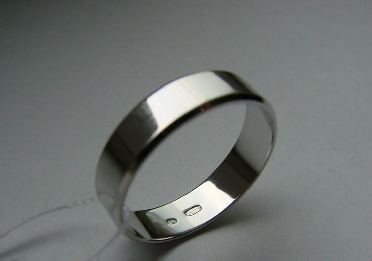 18,00 (размер) 5мм(ширина) Бесшовное обручальное кольцо (Американка) серебро(925), фото №4