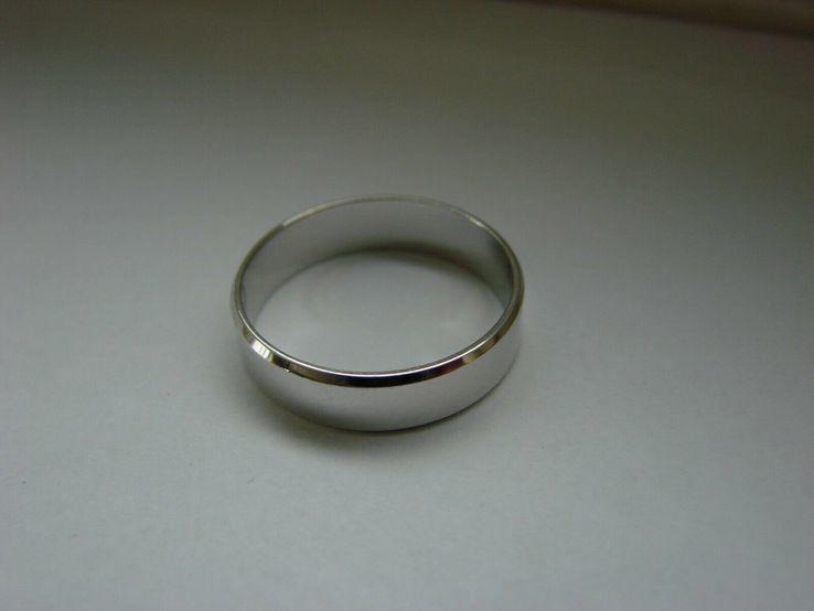 18,00 (размер) 5мм(ширина) Бесшовное обручальное кольцо (Американка) серебро(925), фото №5