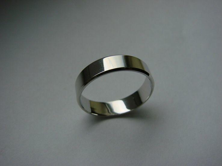 18,00 (размер) 5мм(ширина) Бесшовное обручальное кольцо (Американка) серебро(925), фото №6