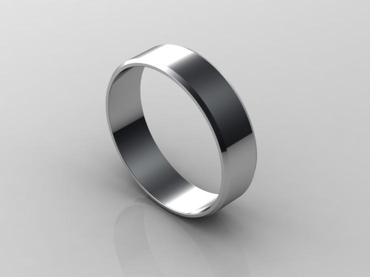 18,00 (размер) 5мм(ширина) Бесшовное обручальное кольцо (Американка) серебро(925), фото №7