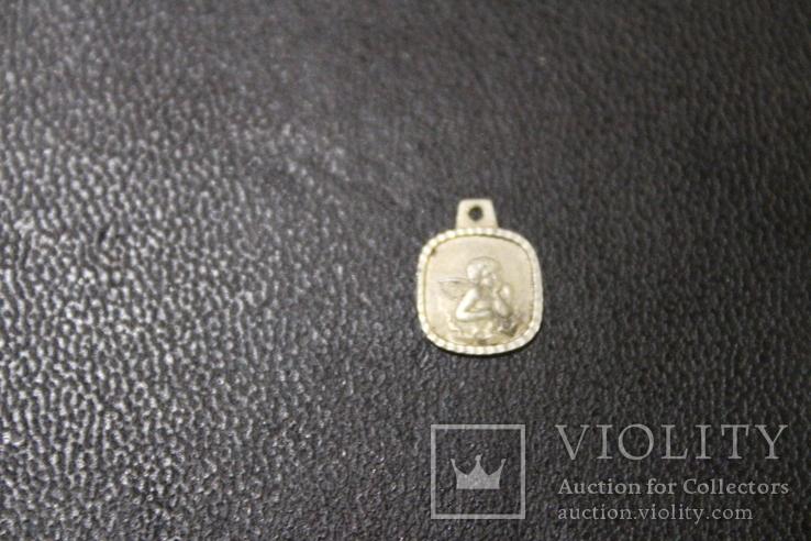 Маленький янгол 99% срібло, вага 0,55 грм., фото №2