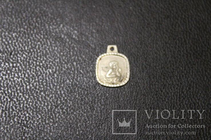 Маленький янгол 99% срібло, вага 0,55 грм., фото №3