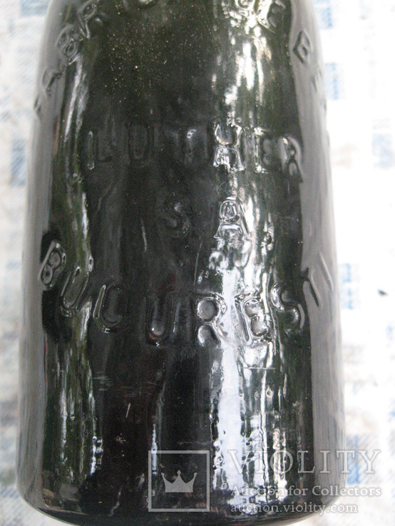 Пивная румынская до военная бутылка.300 мл., фото №3