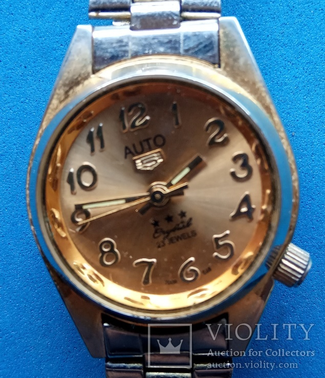 Часы женские механические на ходу, имитация, фото №5