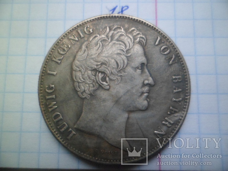 2 таляра 1839 року Баварія . Німечина  копія, фото №2