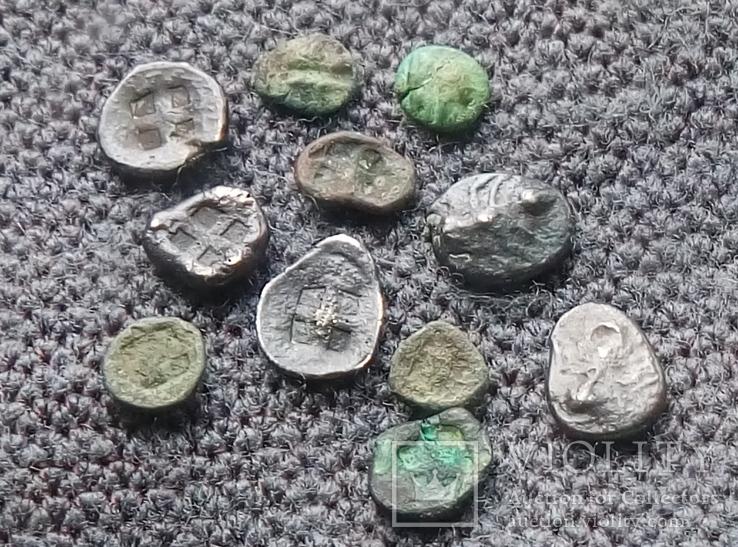 Комплекс монет Боспорского Царства Гермонасса Пантикапей, фото №2