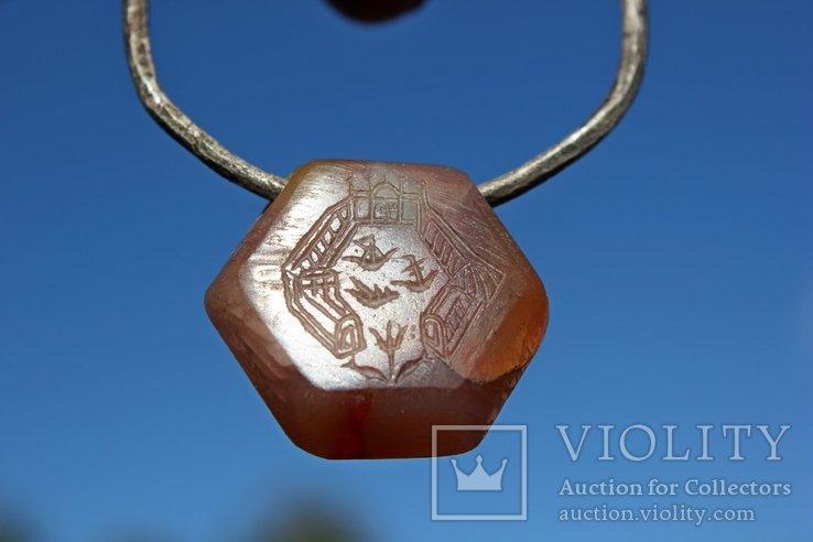 Підвіска з камінцем Ч.К., фото №6