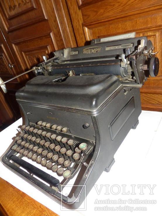 Старинная Печатная машинка  - Германия - Triumph Standard 14 typewriter, фото №2