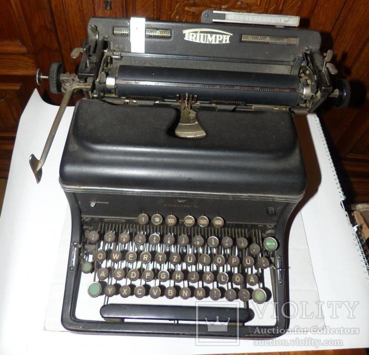 Старинная Печатная машинка  - Германия - Triumph Standard 14 typewriter, фото №5