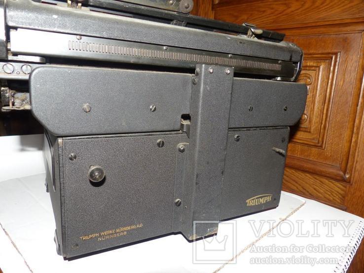 Старинная Печатная машинка  - Германия - Triumph Standard 14 typewriter, фото №6
