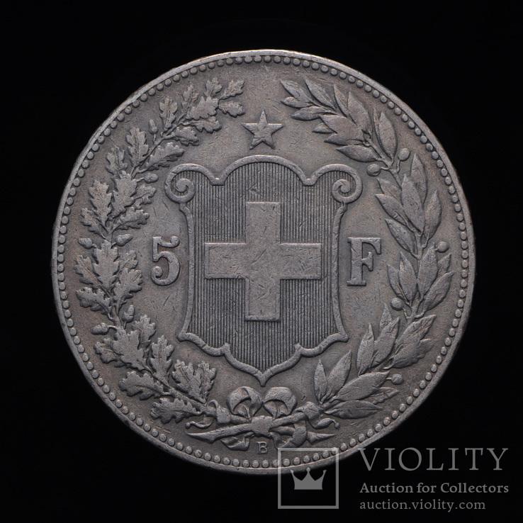 5 Франков 1890, Швейцария