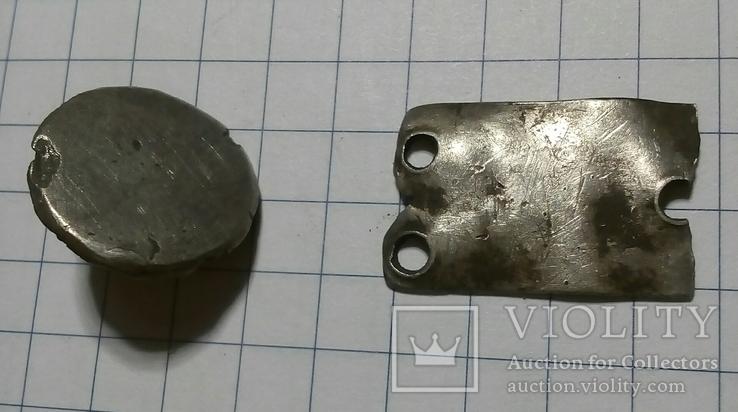 Поясные серебряные накладки ЧК