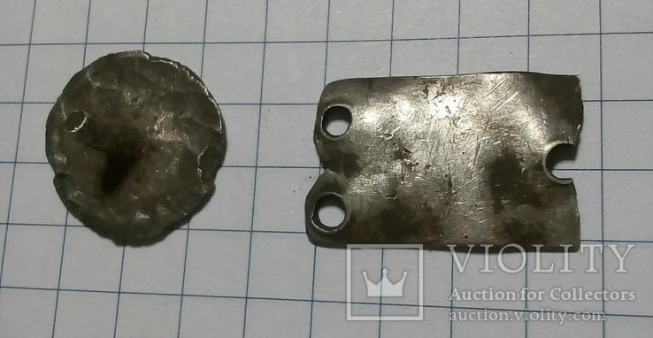 Поясные серебряные накладки ЧК, фото №3