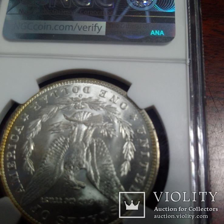 1 доллар 1885 O NGC MS64, фото №6