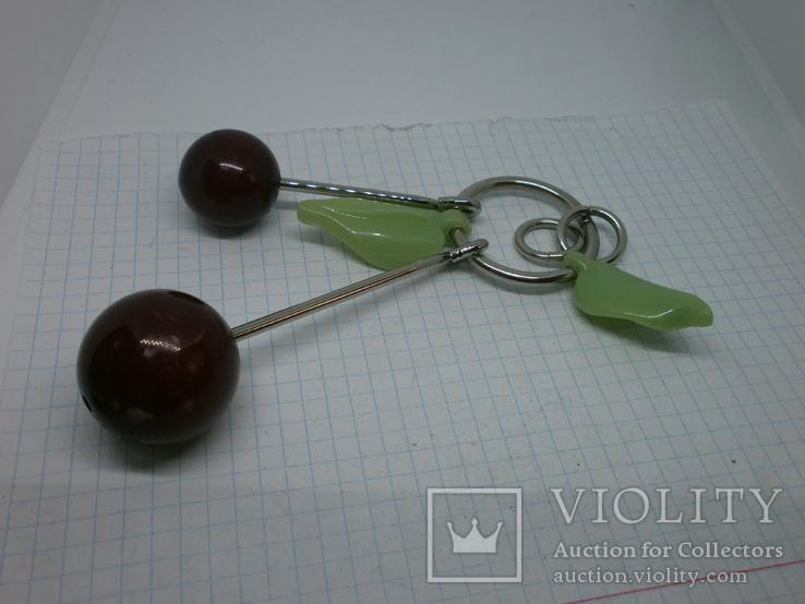 Брелок Вишенки с листиками, фото №2